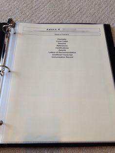 Up close and personal: graduate nurse portfolio
