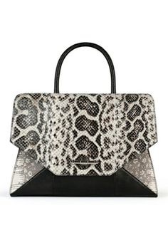 OBSEDIA BAG IN NATURAL ANACONDA, TEJUS AND BLACK LIZARD GIVENCHY www.pinterest.com/BonnieWPhotos/