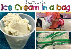 """We recently had ice cream day for """"i"""" day of our ABC countdown to summer. Instead of buying ice cream, I decided we would make our own. I knew it would be a great memory-making activity for my students, and *bonus!* we could tie-in a how-to writing to go with it. A couple tips: If you decide to try this (you really should!) don't get too hung up on the kind of salt you use. I've make ice cream in bag plenty of times using plain table salt–but ideally, the"""