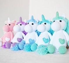 Unicorns! #amigurumi #crochet #diy
