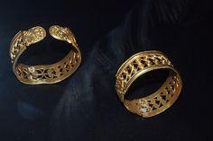Phoenician gold bracelets,provenance from Aliseda Treasure Spain,750 BC