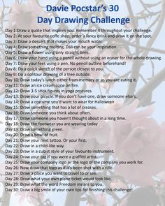 30 day doodle challenge list - Google Search