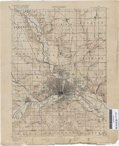 1905 Des Moines Topographic Map