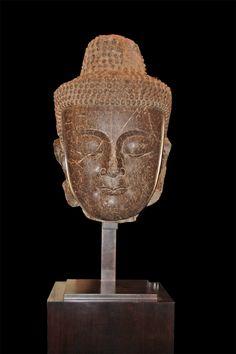 A Rare 5th Century Burmese Temple Collusus of Siddhartha Guatama Buddha - C. Mariani Antiques, Restoration & Custom, San Francisco, CA.