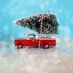 Christmas Photography Chevy Christmas teal red white by annadykema, $30.00