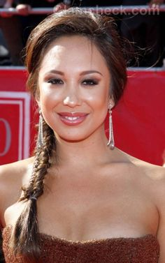 Cheryl Burke in Fishtail Braid
