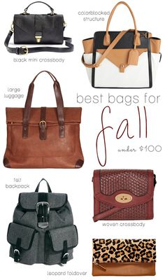 Best Bags For Fall Under $100 at Poor Little It Girl