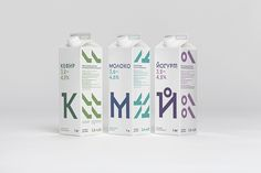A Refreshing, Modern Milk Packaging That Is Based On Bold Typography - DesignTAXI.com