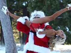 Santa and I doing a little pre-holiday workout... just want to make sure I can fit down your chimney! xoxo