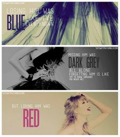 Red by Taylor Swift Loving Him Was Red, Love Him, Forget Him, Red Taylor, Phantom Of The Opera, Tumblr Funny, Stay Tuned, Whisper, Soundtrack