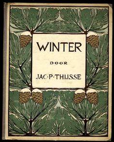 'Winter' boek omslag, 1909.