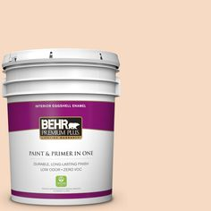 BEHR Premium Plus 5-gal. #M220-2 Pumpkin Essence Eggshell Enamel Interior Paint