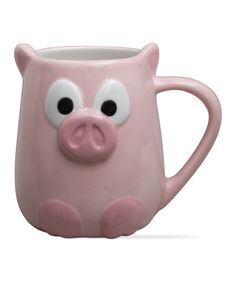 Look what I found on #zulily! Pink Pig Mug #zulilyfinds