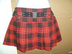 Tripp Nyc Goth Punk Emo Mini Skirt Sz L...EUC by Evalerium on Etsy, $15.99