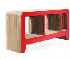 Cardboard Furniture by Reinhard Dienes