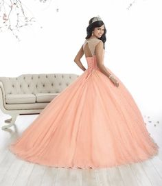 Illusion A-line Quinceanera Dress by House of Wu 26866
