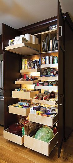 I wonder if this would provide more storage than the pantry we have now...it would definitely be nice to be able to store more than canned goods in there.