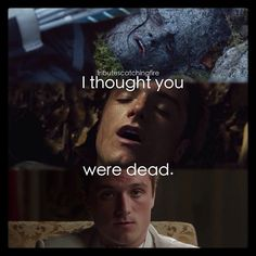 I never noticed how many times Peeta almost dies...•Photo cred: @tributescatchingfire •#peeta #katniss #characters #hungergames