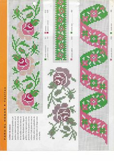 Hippie Crochet, Cross Stitch Embroidery, Bookmarks, Needlework, Decoupage, Kids Rugs, Quilts, Crossstitch, Charts