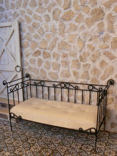 Day Bed wrought iron Dollhouse Miniature by MiniEdenTienda