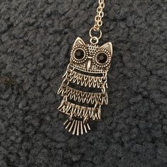 Owl necklace The body in the owl moves Jewelry Necklaces