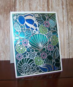 Earlier I posted a card using the Couture Creations Collecting Seashells  embossing folder. Today's card uses the same embossing folde...