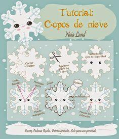 Noia Land: Tutorial: Copos de nieve de fieltro.