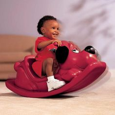 Kiddieland Ride On Toys Little Tikes Red Puppy Dog Rocker Toddler Nursery Rockin #LittleTikes