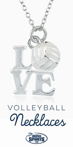 There isn't a cuter way to show your love for #volleyball off the court than with a volleyball necklace! They also make great volleyball gifts for the team!