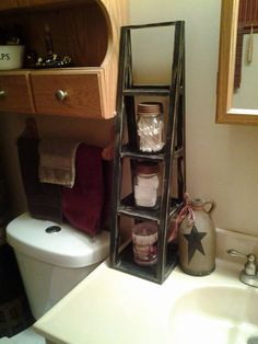 Love the mini ladder on the sink.