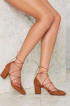 Intentionally Blank Hatter Suede Heel - Beige - Flats