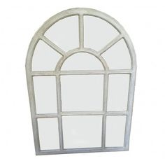 Wooden Arch Gridded Mirror - 2 Finishes – Allissias Attic