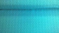 Stoff grafische Muster - Jersey Jerseystoff Wellen petrolblau - ein Designerstück von Stoffe-guenstig-kaufen bei DaWanda