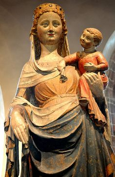 Virgin and Child Limestone with original paint, gilding, and glass France, Ile-de-France, about 1350. The Cloisters Collection, NYC