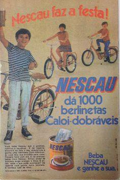 1969: Nescau e as berlinetas dobráveis da Caloi