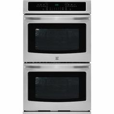 """49523 27"""" Self-Clean Double Electric Wall Oven w/Convection - Stainless Steel - Kmart"""