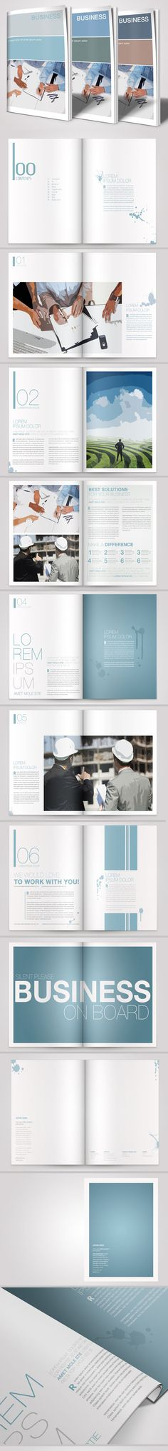 A4 Business Brochure Vol. 01 by Danijel Mokic, via Behance