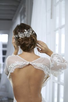 More than a jewel, all of our headpieces and accessories are designed with the same love and commitment as when Maria Elena designed her first. Headpiece, Backless, Campaign, Hairstyles, Engagement, Dresses, Fashion, Brides, Up Dos