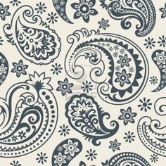 Seamless background from a paisley ornament, Fashionable modern wallpaper or textile Stock Photo