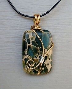 Image result for How to Wire Wrap Stones Jewelry
