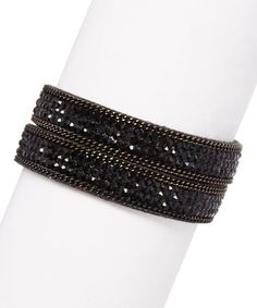 Black Suede City Lights Bracelet