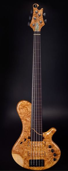 JSP Custom 5 String Fretless Bass - Awesome footprint sound holes!