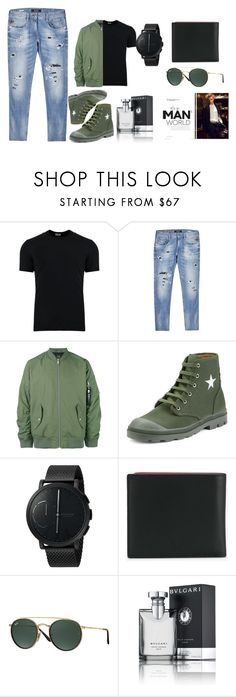 """""""It's a man's world"""" by perfectstyle-2 ❤ liked on Polyvore featuring Dolce&Gabbana, Replay, Carhartt, Givenchy, Skagen, Fendi, Ray-Ban, Bulgari, men's fashion and menswear"""