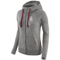 Women s Nike USC Trojans Vintage Full-Zip Hoodie ( 70) ❤ liked on Polyvore c6813274f