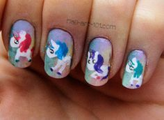 unicorn nails | unicorn nails more littel poni nail unicorn nailart beauti ...