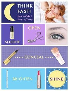 how to look awake // perfect for those nights you just don't get enough sleep