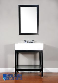 """Give your bathroom an upscale appearance with this elegant bathroom vanity.    Espresso color cabinet.  Crafted of birch wood.  White porcelain sink.  Base ships assembled with the sink and the marble top.  Side cabinet available.   Vanity has opening for plumbing.  Counter top has 3 pre-drilled holes for 8"""" spread faucet.  Matching mirror available but not included."""