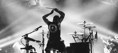 Rian Dawson of All Time Low on The Future Hearts Tour, I like how he drums. full set- http://adamelmakias.com/live/photos-from-the-future-hearts-tour/