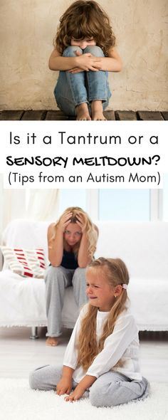 Is it a tantrum or a sensory meltdown? (Tips from an autism mom!) Parenting Memes, Kids And Parenting, Parenting Advice, Autism Behavior Management, Is My Child Autistic, Sensory Therapy, Kids Therapy, Special Needs Mom, Young Parents