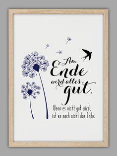 """Originaldruck - """"ALLES WIRD GUT"""" Kunstdruck - ein Designerstück von Smart-Art-Kunstdrucke bei DaWanda"""